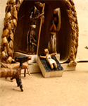 Uganda Banana Leaf Nativity