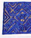 Nuristani Embroidered Card - Blue