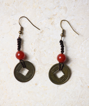 Asian Coin Earrings