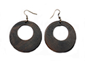 Wooden Donut Earrings