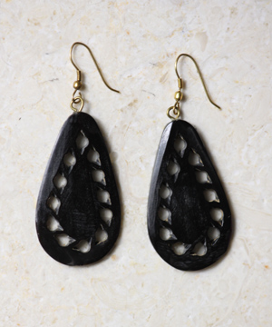 Horn Teardrop Earrings