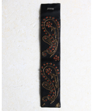 Black Satin Embroidered Cuff