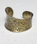Hammered Henna Brass Cuff
