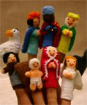 Peruvian Finger  Puppet Nativity