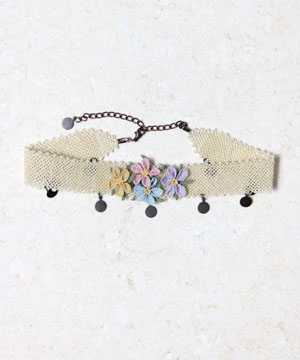 Tatted Floral Choker