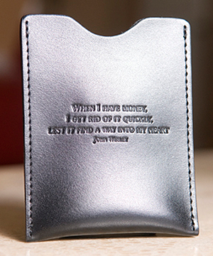 Guard Your Heart Money Clip In Black