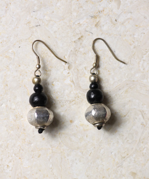 Silver Foil Drop Earrings