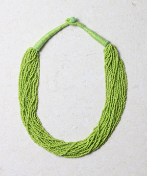 5000 Bead Necklace - Lime