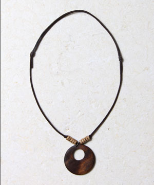 Wooden Donut Necklace