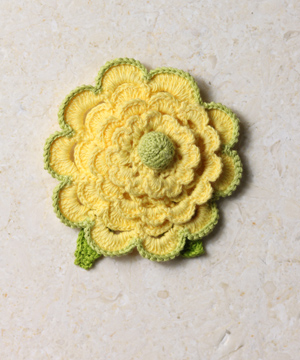 Scalloped Brooch In Lemon
