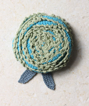 Turquoise Double Bud Brooch