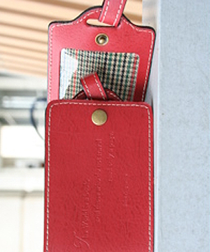 Travel Well Luggage Tag In Red