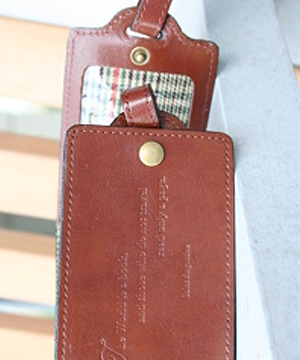 Travel Well Luggage Tag In Brown