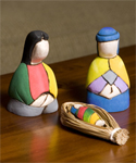Ecuador Balsam Wood Nativity