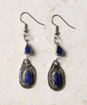 Lapis Tear Drop Earrings