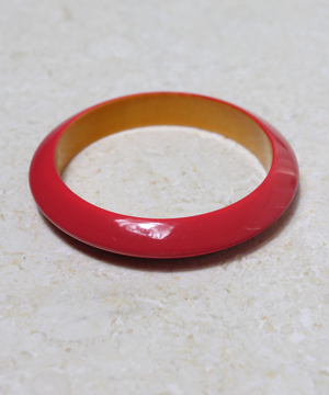 Dark Red Resin Bangle