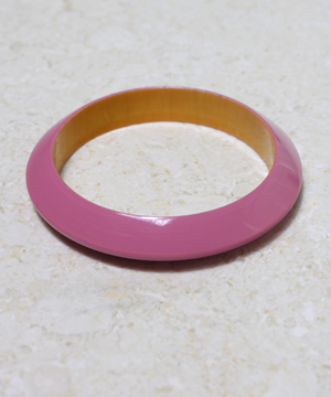 Pink Resin Bracelet