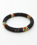 Maasai Bangle Bracelet, Black
