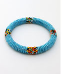 Maasai Bangle Bracelet, Turquoise
