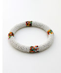 Maasai Bangle Bracelet, White