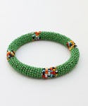 Maasai Bangle Bracelet, Green