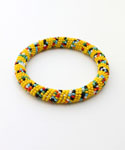 Maasai Bangle Bracelet, Yellow Multicolored
