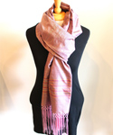 Afghan Silk Scarf, Pink