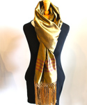 Afghan Silk Scarf, Olive