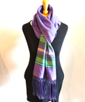 Afghan Silk Scarf, Purple