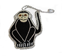 Monkey Ornaments Set of 2