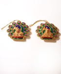 Peacock Ornaments Set of 2
