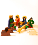 Sri Lankan Wood Nativity Set