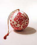 Red & White Snowflake Ball Ornament