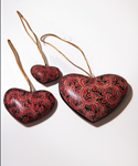 Wooden Heart Ornaments 1