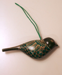 Green Wooden Bird Ornament