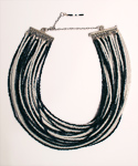 Zahra Black and White Seed Bead Collar Necklace