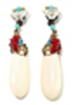 Teardrop Earring - Cream