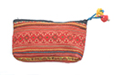 Orange Striped Makeup Pouch