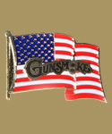 Gunsmoke American Flag Pin