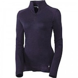 Smartwool Next To Skin Women's Mid Weight Base Layer Zip T Deep Purple