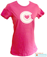 Colorado Heart Women's Tshirt Berry