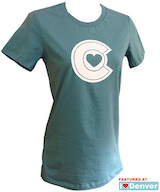Colorado Heart Women's Tshirt Aqua