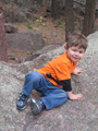 Z poses on the rocks