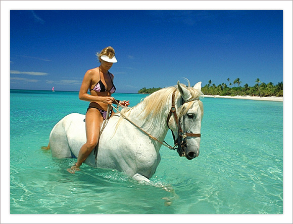 Woman on a Horse Roatan, Honduras