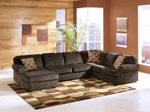 Rent Ashley Vista-Chocolate 3-Piece Sectional - Rent-A-Center