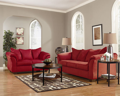 Rent ashley darcy salsa sofa and loveseat for Rent a center living room groups