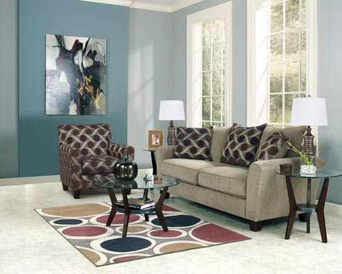 Rent Ashley Trinsic Pebble 7 Piece Living Room Group