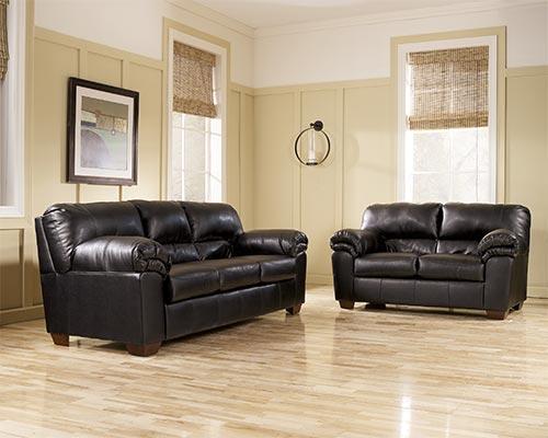 Ashley Commando Black Sofa And Loveseat