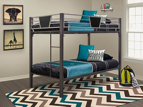 Detail Photo Cym Stanley Ii Twin Over Twin Bunk Bed Set
