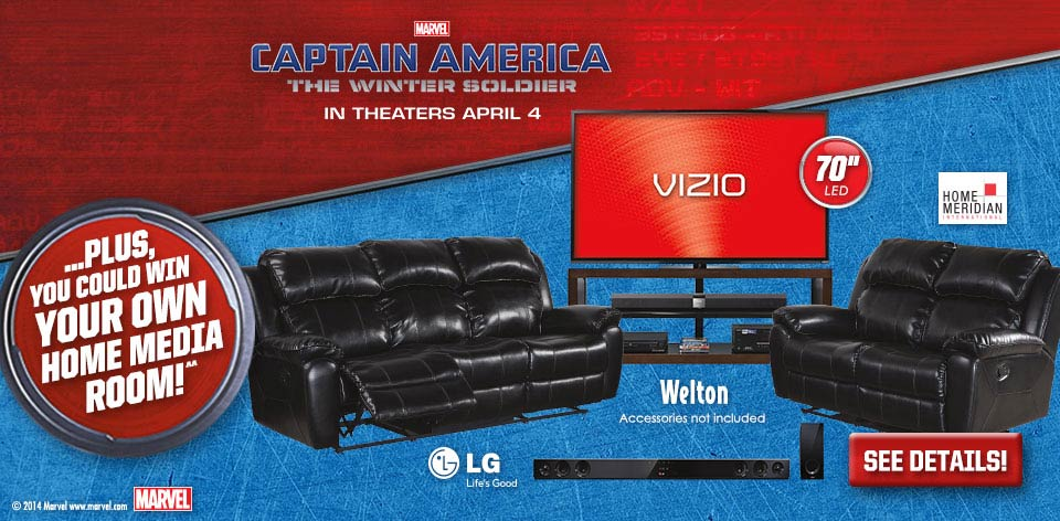Marvel - Captain America - The Winter Soldier - You Could Win Your Own Media Room!